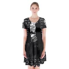 Count Vlad Dracula Short Sleeve V Neck Flare Dress by Valentinaart