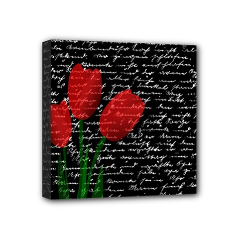 Red Tulips Mini Canvas 4  X 4  by Valentinaart