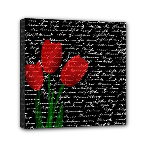 Red Tulips Mini Canvas 6  X 6  by Valentinaart