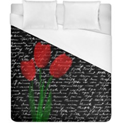 Red Tulips Duvet Cover (california King Size) by Valentinaart
