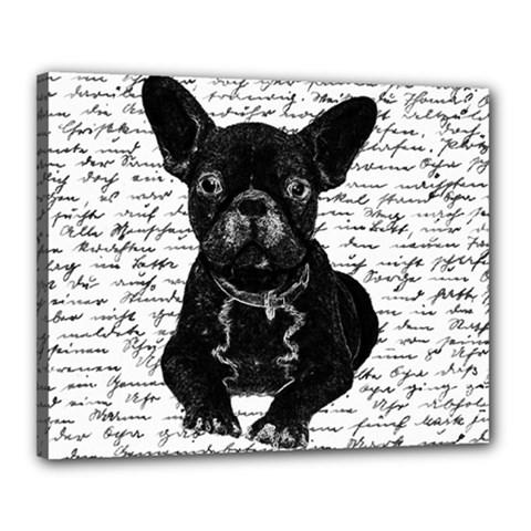 Cute Bulldog Canvas 20  X 16  by Valentinaart