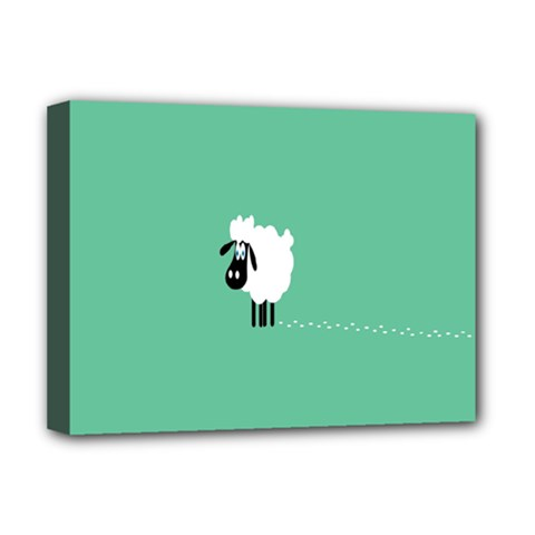 Sheep Trails Curly Minimalism Deluxe Canvas 16  X 12   by Simbadda