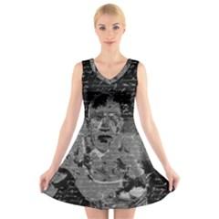 Angel  V Neck Sleeveless Skater Dress by Valentinaart