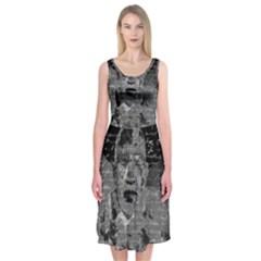 Angel  Midi Sleeveless Dress by Valentinaart