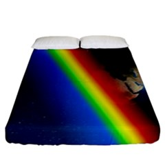 Rainbow Earth Outer Space Fantasy Carmen Image Fitted Sheet (king Size) by Simbadda