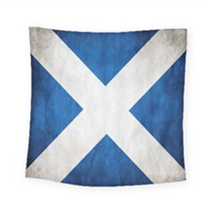 Scotland Flag Surface Texture Color Symbolism Square Tapestry (small) by Simbadda