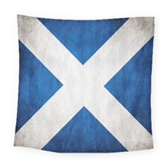 Scotland Flag Surface Texture Color Symbolism Square Tapestry (large) by Simbadda