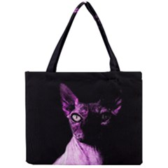 Pink Sphynx Cat Mini Tote Bag by Valentinaart