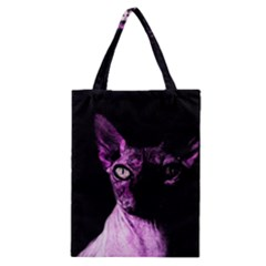 Pink Sphynx Cat Classic Tote Bag by Valentinaart