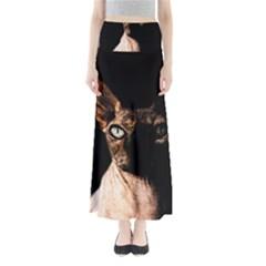 Sphynx Cat Maxi Skirts by Valentinaart