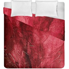 Red Background Texture Duvet Cover Double Side (king Size) by Simbadda