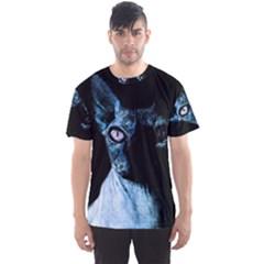 Blue Sphynx Cat Men s Sport Mesh Tee by Valentinaart