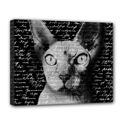 Sphynx Cat Deluxe Canvas 20  X 16   by Valentinaart