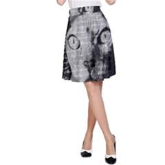 Sphynx Cat A Line Skirt by Valentinaart
