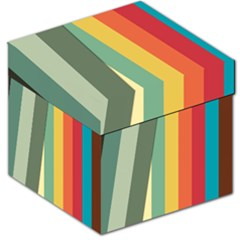 Texture Stripes Lines Color Bright Storage Stool 12   by Simbadda