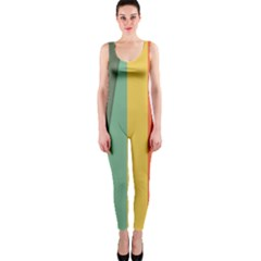 Texture Stripes Lines Color Bright Onepiece Catsuit by Simbadda