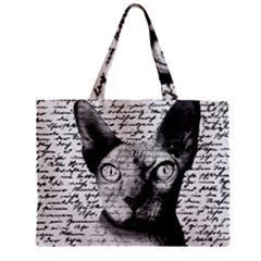 Sphynx Cat Mini Tote Bag by Valentinaart