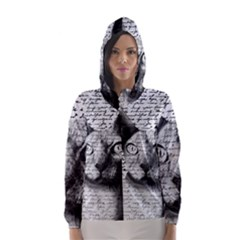 Sphynx Cat Hooded Wind Breaker (women) by Valentinaart