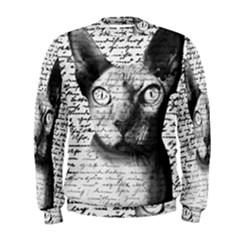 Sphynx Cat Men s Sweatshirt by Valentinaart