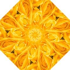 Yellow Neon Flowers Folding Umbrellas by Simbadda