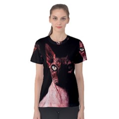 Sphynx Cat Women s Cotton Tee by Valentinaart