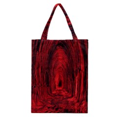 Tunnel Red Black Light Classic Tote Bag by Simbadda