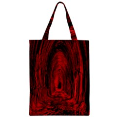 Tunnel Red Black Light Zipper Classic Tote Bag by Simbadda