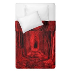 Tunnel Red Black Light Duvet Cover Double Side (single Size) by Simbadda