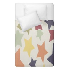Star Colorful Surface Duvet Cover Double Side (single Size) by Simbadda