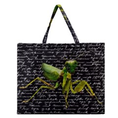 Mantis Zipper Large Tote Bag by Valentinaart