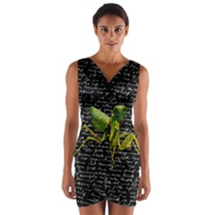 Mantis Wrap Front Bodycon Dress by Valentinaart