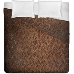 Texture Background Rust Surface Shape Duvet Cover Double Side (king Size) by Simbadda