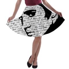 Elvis A Line Skater Skirt by Valentinaart