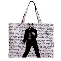 Elvis Zipper Mini Tote Bag by Valentinaart