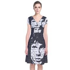 Morrison Short Sleeve Front Wrap Dress by Valentinaart