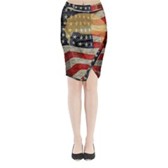 American President Midi Wrap Pencil Skirt by Valentinaart