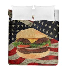Hamburger Duvet Cover Double Side (full/ Double Size) by Valentinaart