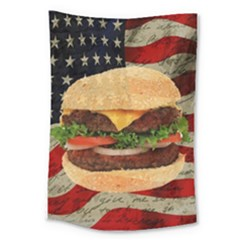 Hamburger Large Tapestry by Valentinaart