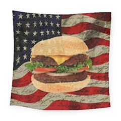 Hamburger Square Tapestry (large) by Valentinaart