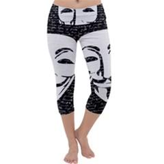 Antonymous   Capri Yoga Leggings by Valentinaart