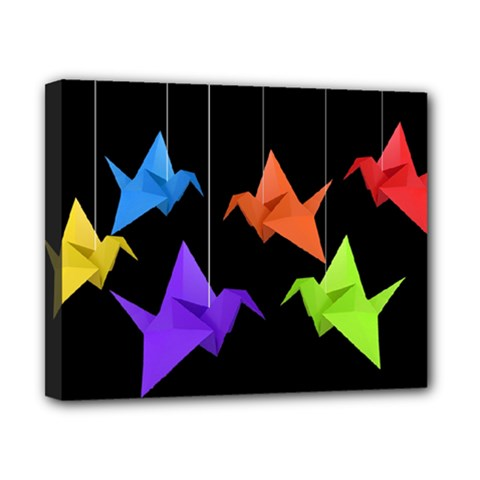 Paper Cranes Canvas 10  X 8  by Valentinaart