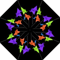 Paper Cranes Straight Umbrellas by Valentinaart