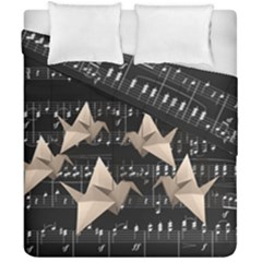 Paper Cranes Duvet Cover Double Side (california King Size) by Valentinaart