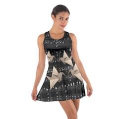Paper Cranes Cotton Racerback Dress by Valentinaart