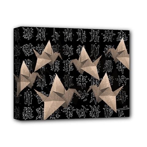 Paper Cranes Deluxe Canvas 14  X 11  by Valentinaart