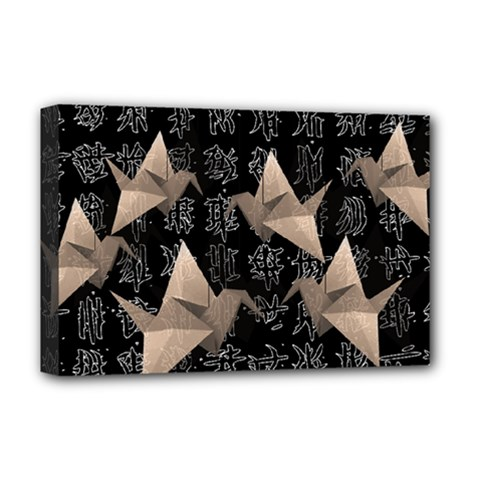 Paper Cranes Deluxe Canvas 18  X 12   by Valentinaart