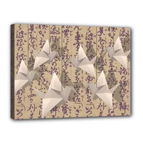 Paper Cranes Canvas 16  X 12  by Valentinaart