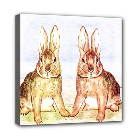 Rabbits  Mini Canvas 8  X 8  by Valentinaart