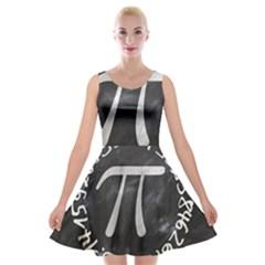 Pi Velvet Skater Dress by Valentinaart