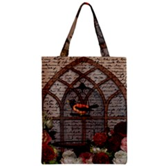 Vintage Bird In The Cage Zipper Classic Tote Bag by Valentinaart
